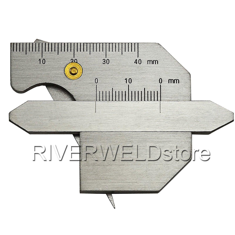 2 Years Warranty Stainless Steel Welding Seam Gauge Bead Gage Weld Pit Test Ulnar Inspection Ruler [ABBOTT] ABBOTT1/2