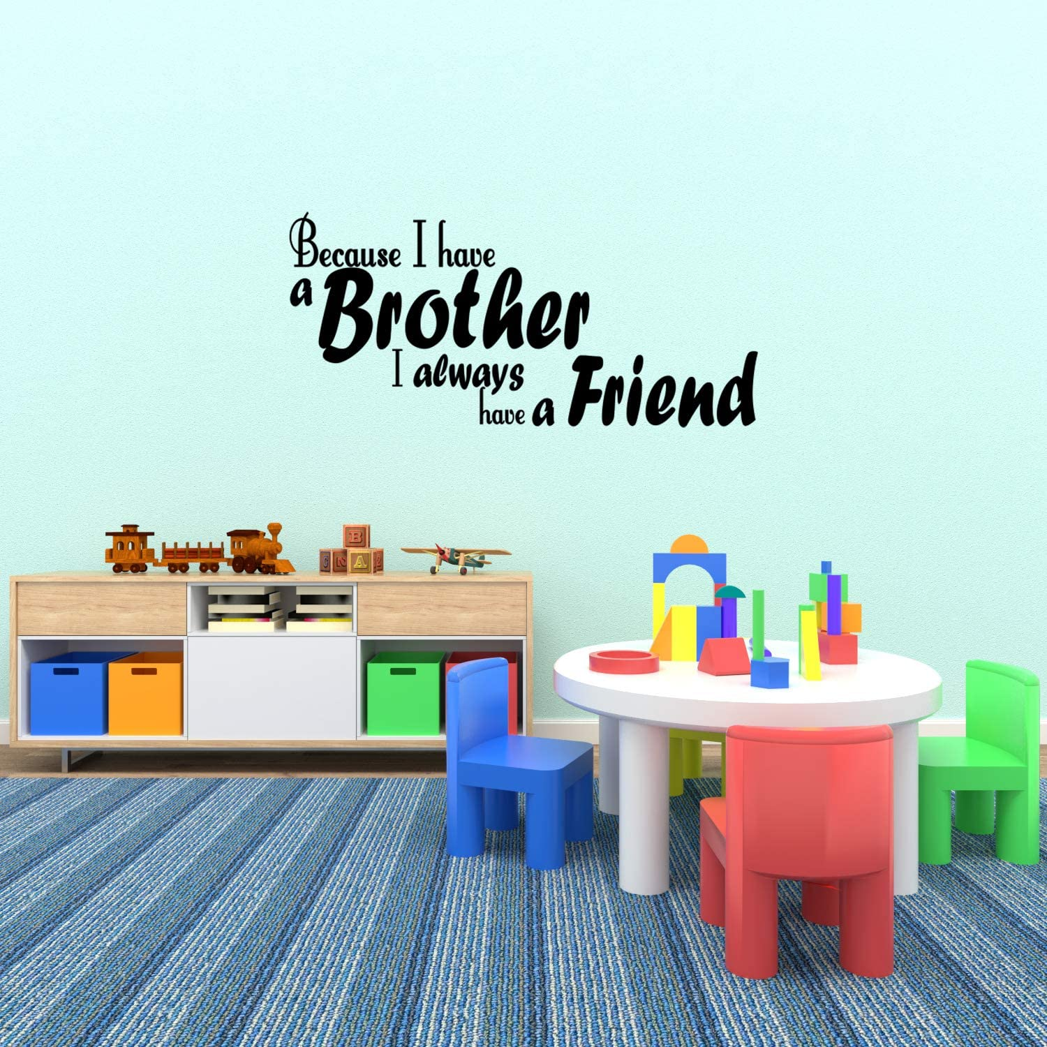 Wall Decal Sticker Quote Vinyl Art Lettering Brothers Always Have a Friend