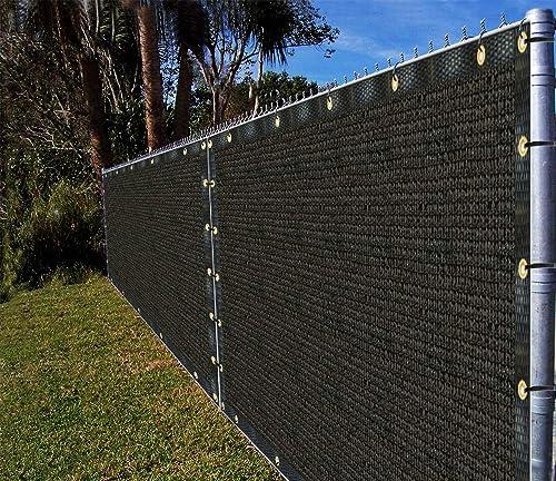 Ifenceview 2 x 2 to 2 x 100 Shade Cloth Fabric Fence Privacy Screen Panels Mesh Net for Construction Site Yard Driveway Garden Pergolas Gazebos Railing Canopy Awning 180 GSM UV 2 x 30 , Black