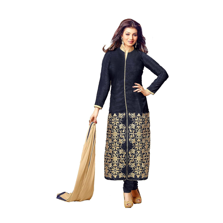 Ustaad Women'sBlack Cotton Salwar Kameez