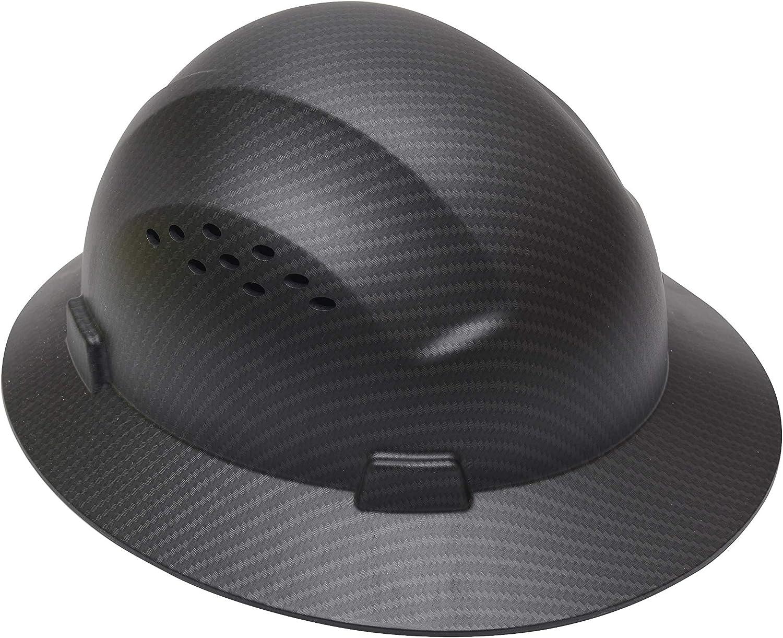Copper CJ Safety Full Brim Fiber Glass Hard Hat with Fas-Trac Suspension