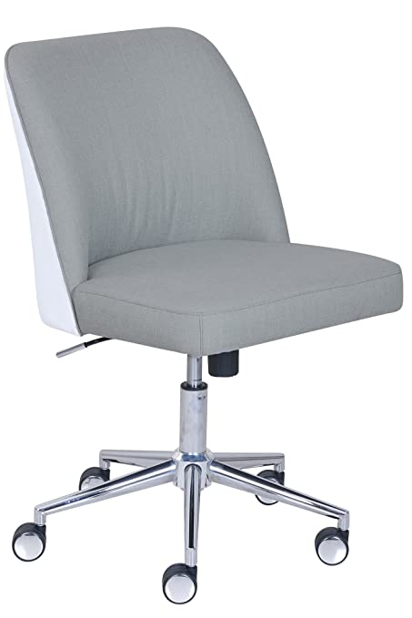 ELLE Décor Maia Two Tone Task Chair In French Light French Gray/French White