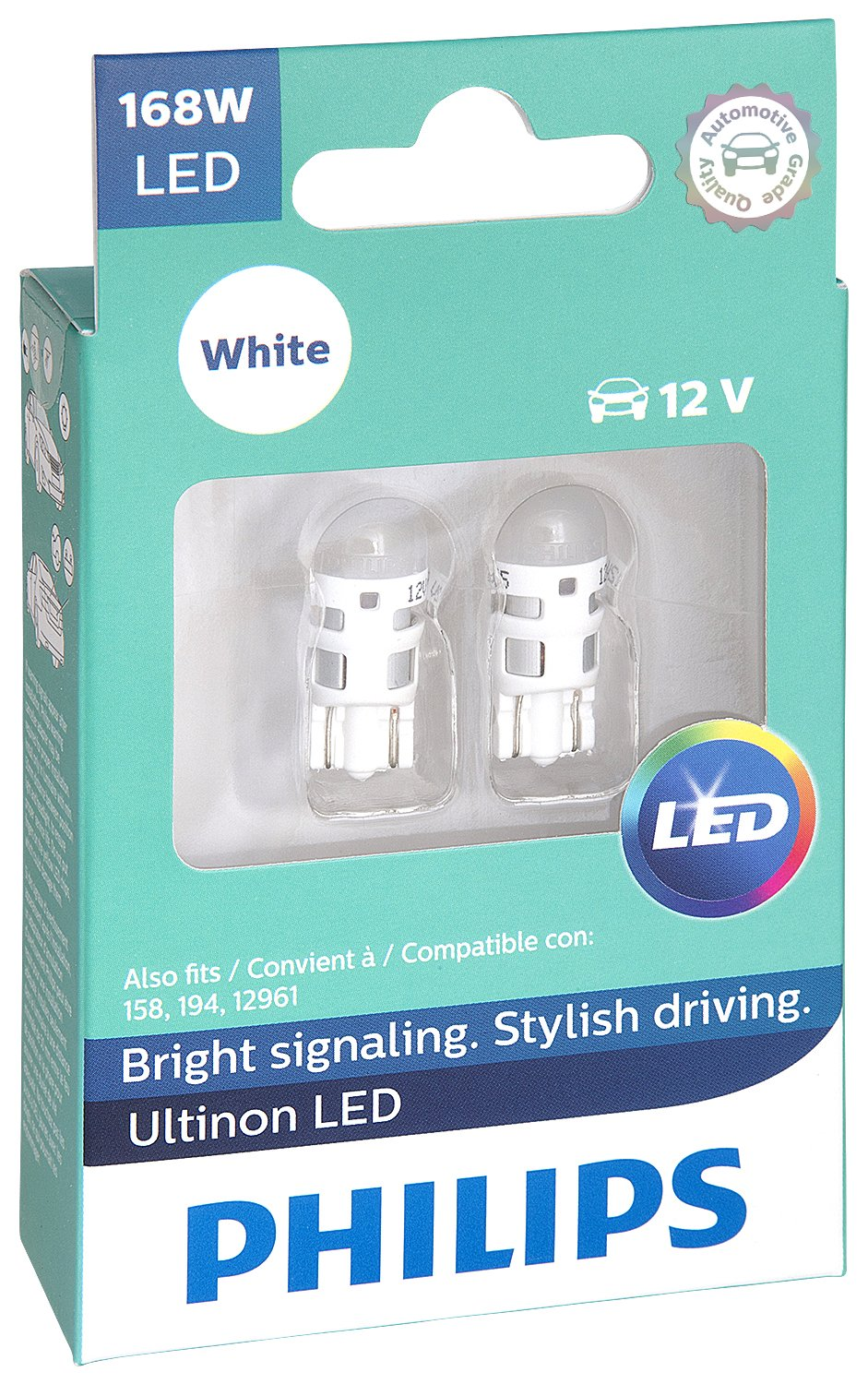 Philips 168 Ultinon LED Bulb (White), 2 Pack