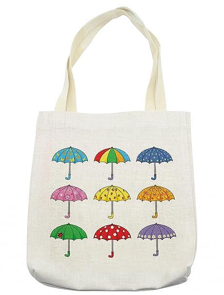 Amazon.com: lunarable colorido bolso de mano, arco iris ...
