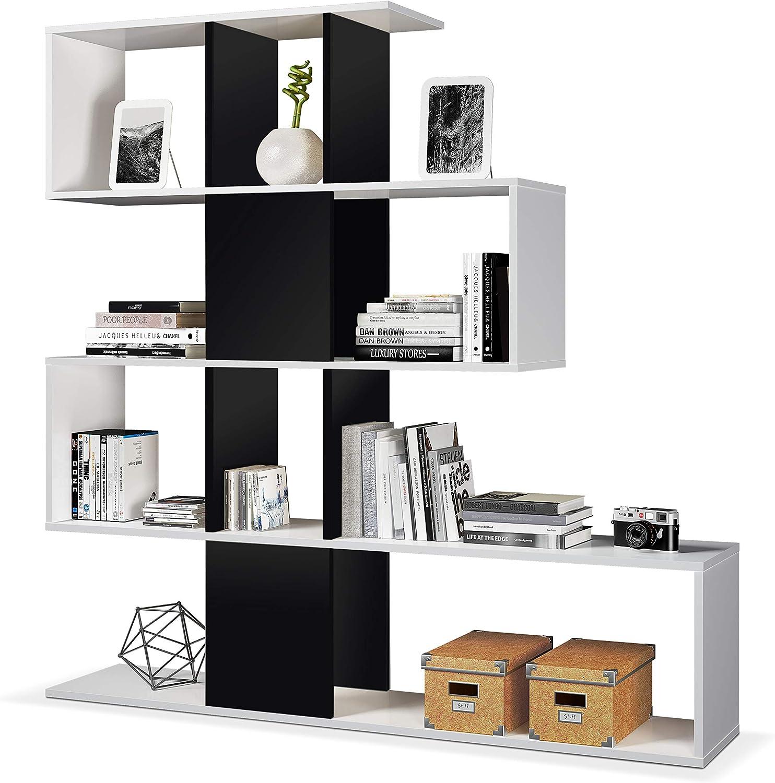 Estanteria Moderna en color Blanco y Negro Brillo