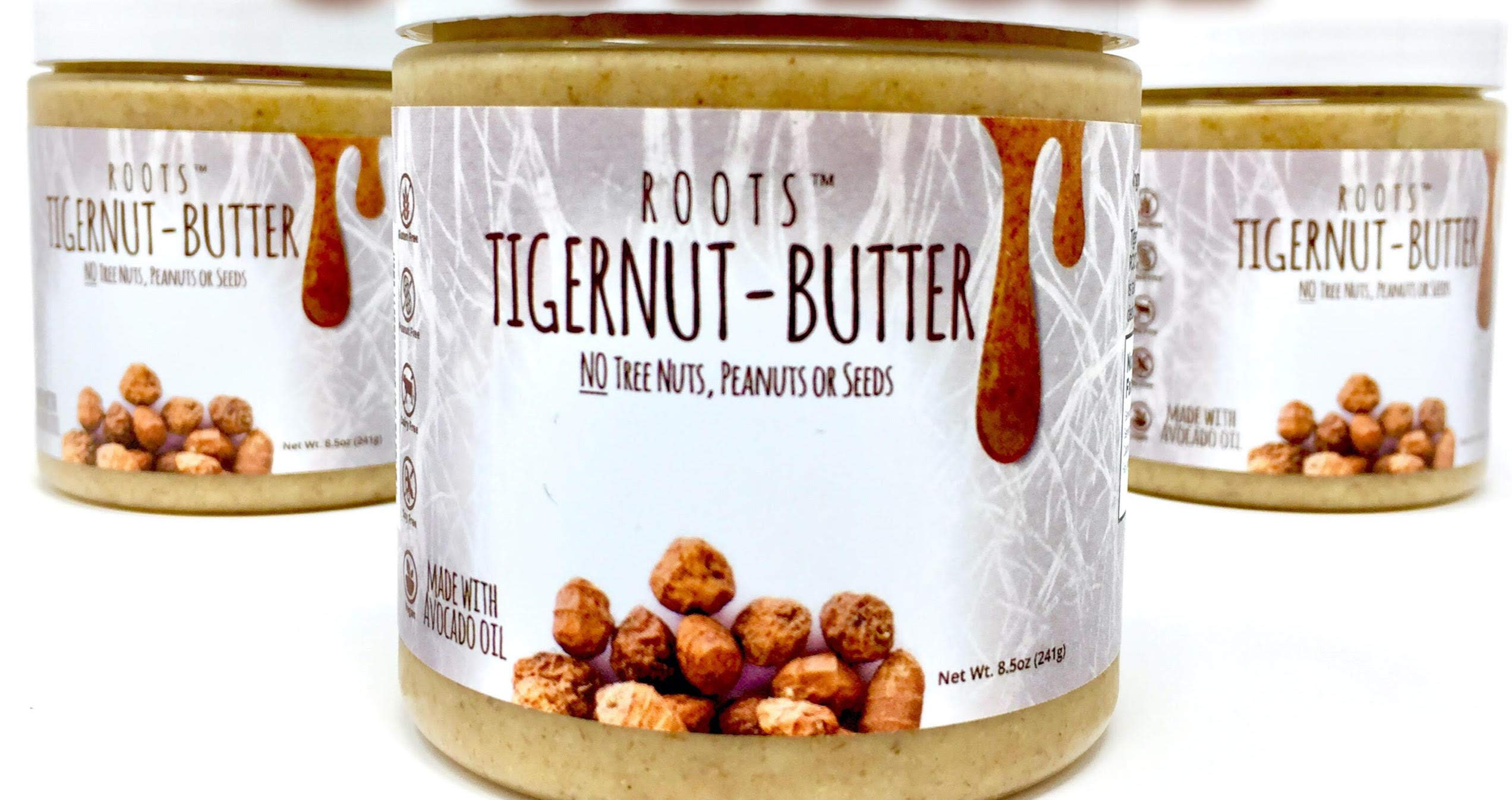 ROOTS Tigernut Butter - Aip Diet and Paleo, Vegan Compliant - Allergen Friendly - Nut Free, Seed Free, Gluten Free, Soy Free - Tiger nut - Aip Snack - (8.5 ounces each) Original Flavor 3 Pack