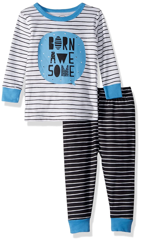 Lamaze Organic Baby Organic Baby//Toddler Girl Boy White Stripe Unisex Tight Fit Pajamas Set 18M