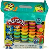 Play-Doh Modeling Compound 50- Value Pack Case of Colors, Non-Toxic, Assorted Colors, 1-Ounce Cans, Ages 2 and up (50 Cans - 1 Pack)