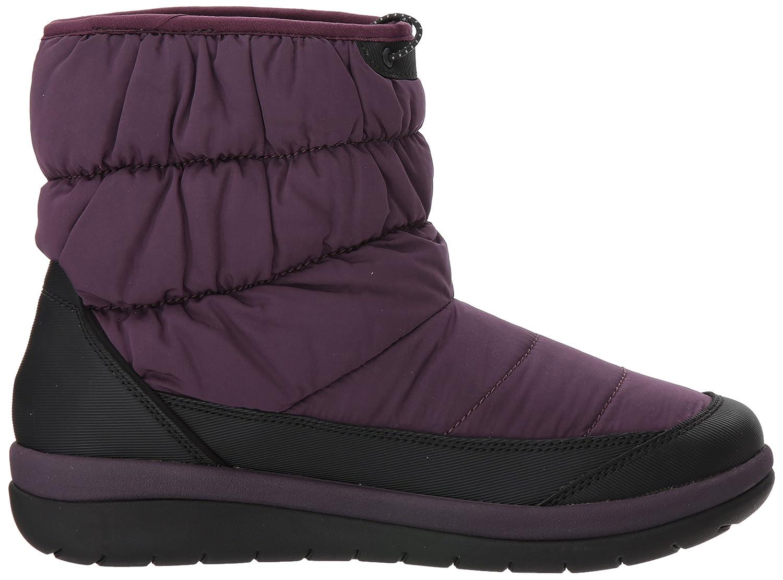 CLARKS Women's Cabrini Bay Snow Boot B01N2YXCXX 10 B(M) US|Aubergine