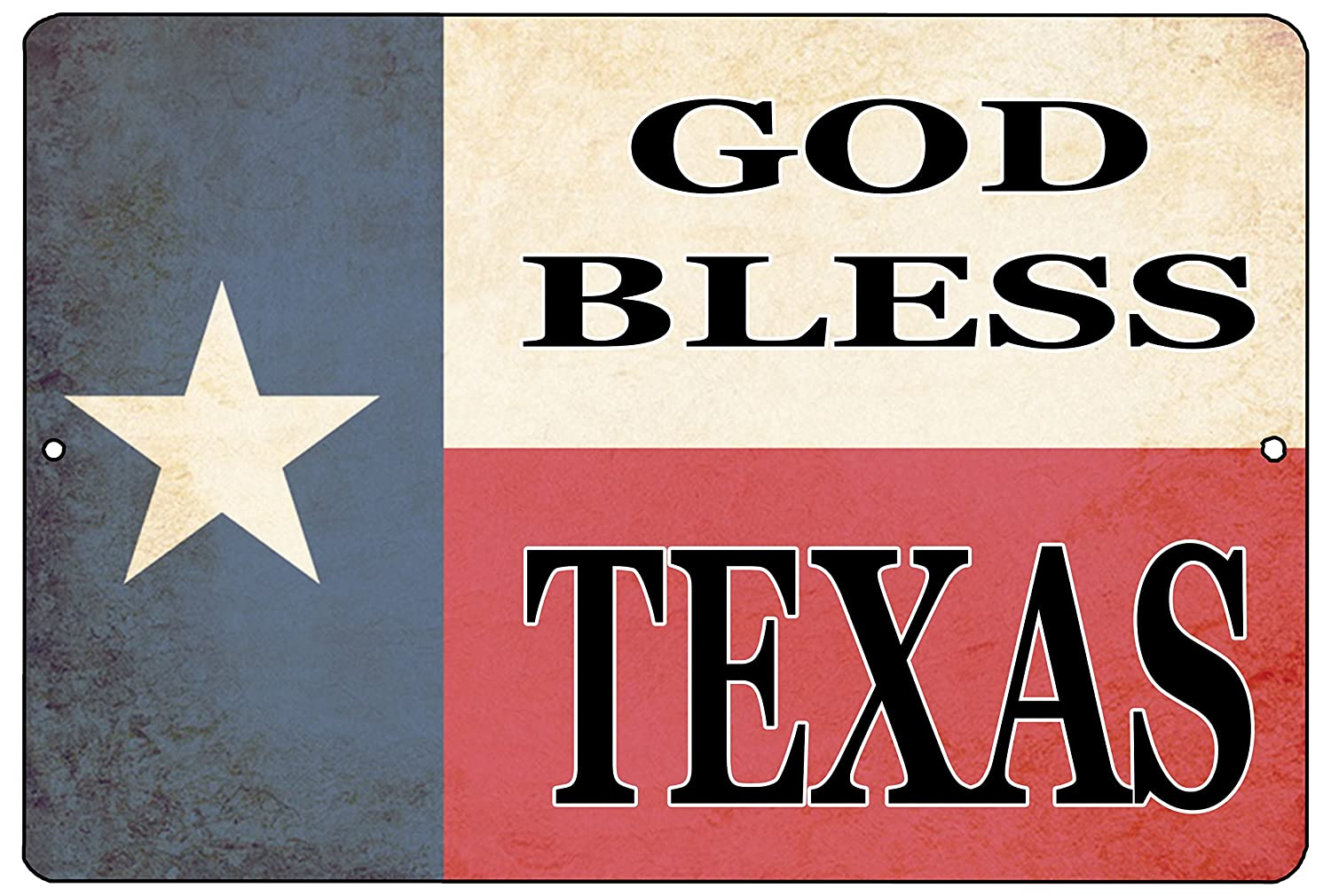 Rogue River Tactical Texas State Flag Metal Tin Sign Wall Decor Man Cave Bar Texans Lone Star God Bless Texas