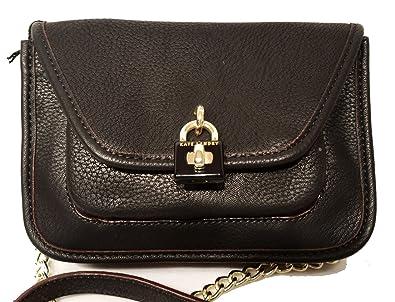 9af751818618 Image Unavailable. Image not available for. Color  Kate Landry Padlock Black  Crossbody Handbag