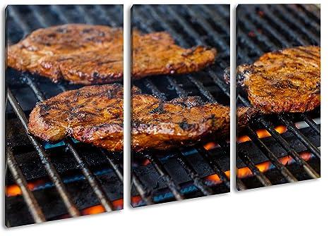 appetitliche steaks a la parrilla como Lienzo, diseño ...
