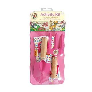 Tierra Garden 7-LP111 Little Pals Kids Garden Tool Activity Kit, Pink