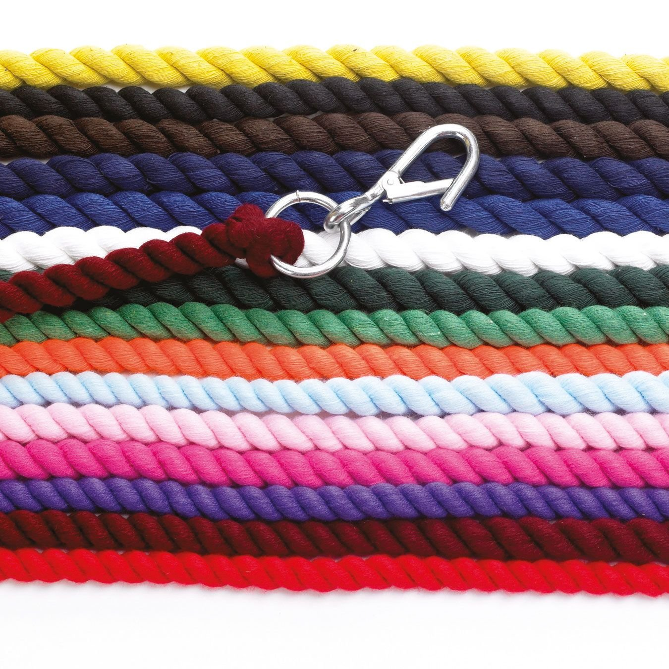 Hy Lead Rope (choose from colours yellow, baby blue, baby pink, electric pink, orange, royal, red or brown) - featuring high quality wednesbury clip Hy Lead Rope - yellow William Hunter Equestrian