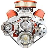 ICT Billet SBC Alternator/Power Steering Pump Accessory Drive Bracket Kit for Double Hump Heads 305 327 350 383 5.0L 5…
