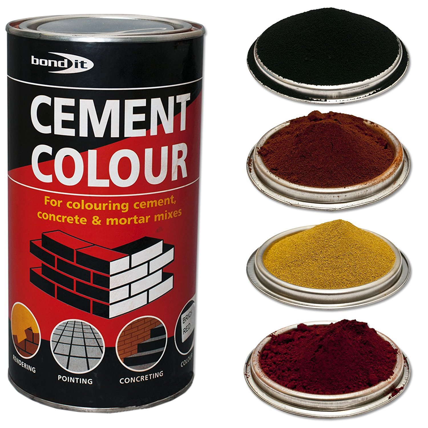 Bond-It Builders Complete BDH060Y Buff Yellow Powdered Cement Dye (1 Kg) - Colours Mortar, Brick, Pointing, Render and Concrete Toner Bond It
