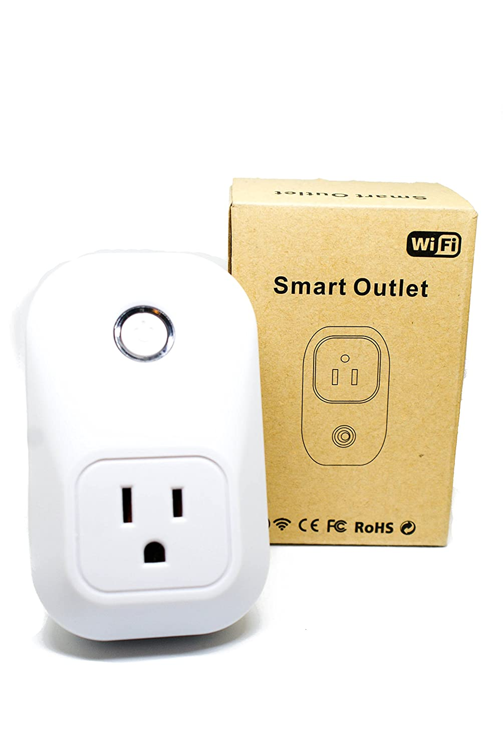 Wifi Smart Plug Outlet Works With Most Home Controls Tan America Timer Wiring Diagram No Hub Required Turn On Off From Anywhere