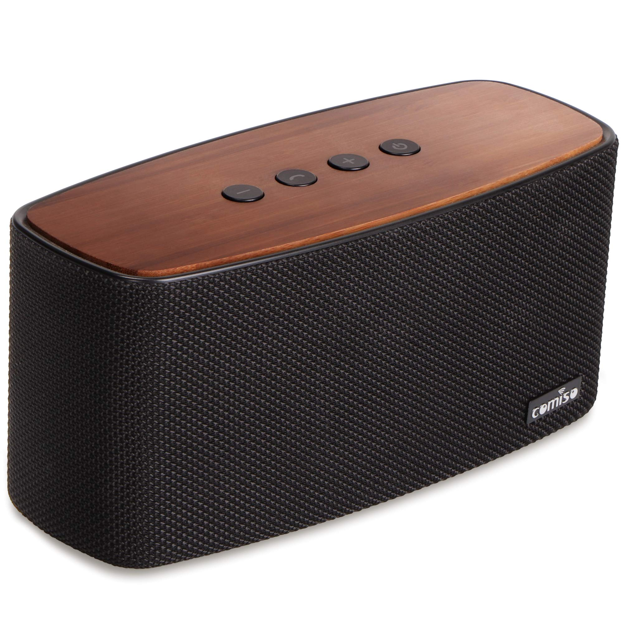 Parlante Bluetooth COMISO NatureAudio 30W Loud Bamboo Wood H