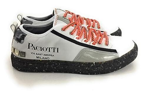 size 40 2dd2b b60f2 Cesare Paciotti 4US,Sneakers Uomo in Pelle,Grigio Chiaro ...