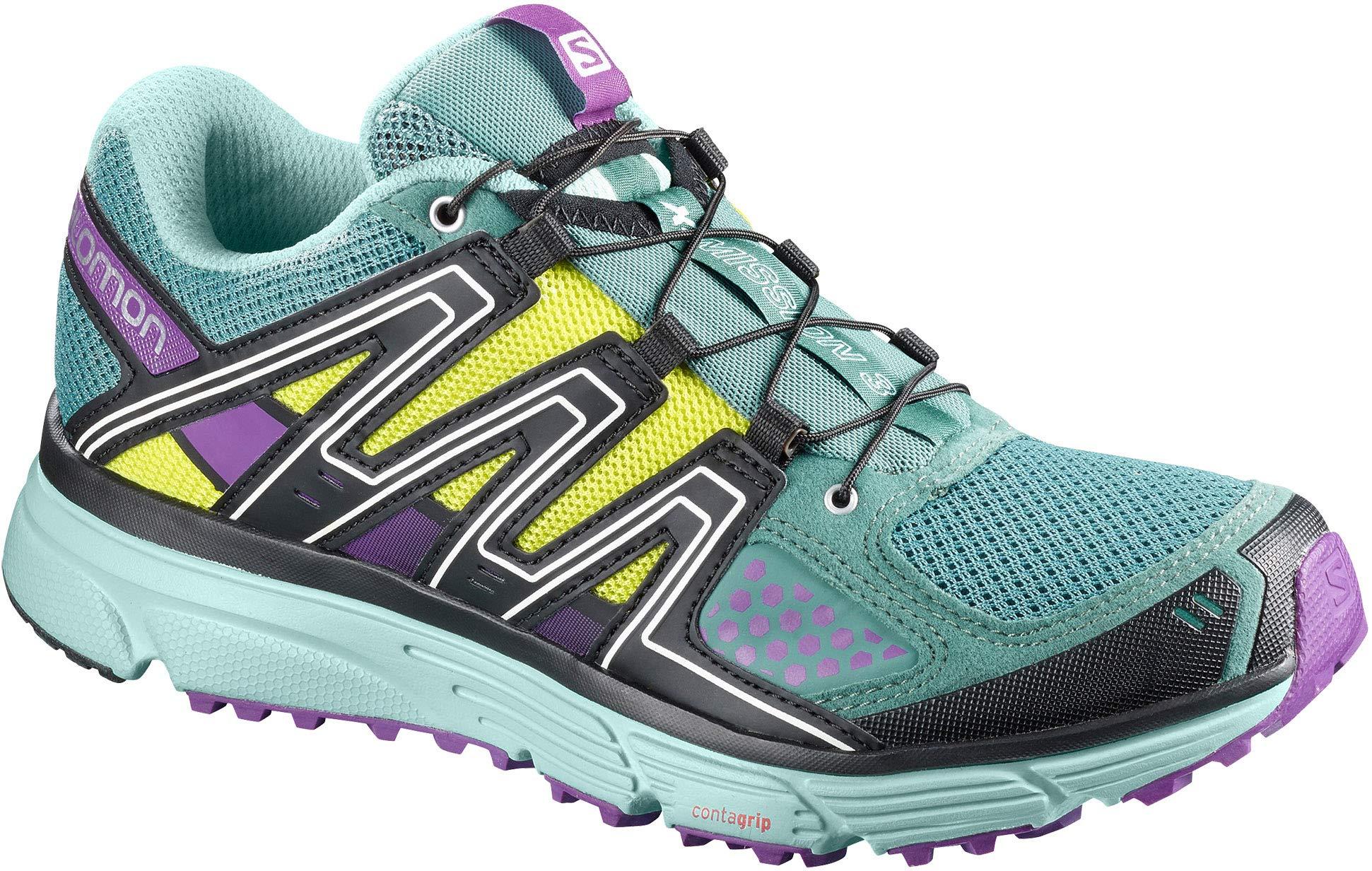 SALOMON X-Mission 3 Trail Running Shoes Womens Sz 9 North Atlantic/Eggshell by SALOMON