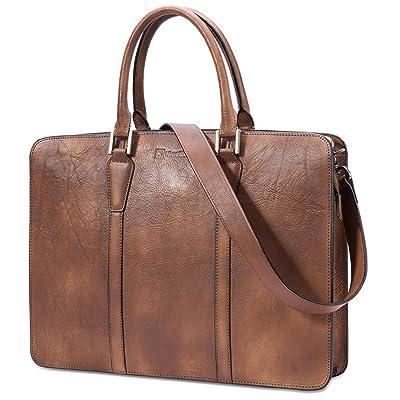 good NiceEbag Leather Briefcase Bag Retro Genuine Leather Business Messenger Bag Fit For 13.3 Inch Laptop With Adjustable Shoulder Strap Shoulder Bag Stylish Handbag Multifunctional Tote Bag Top Handle Bag