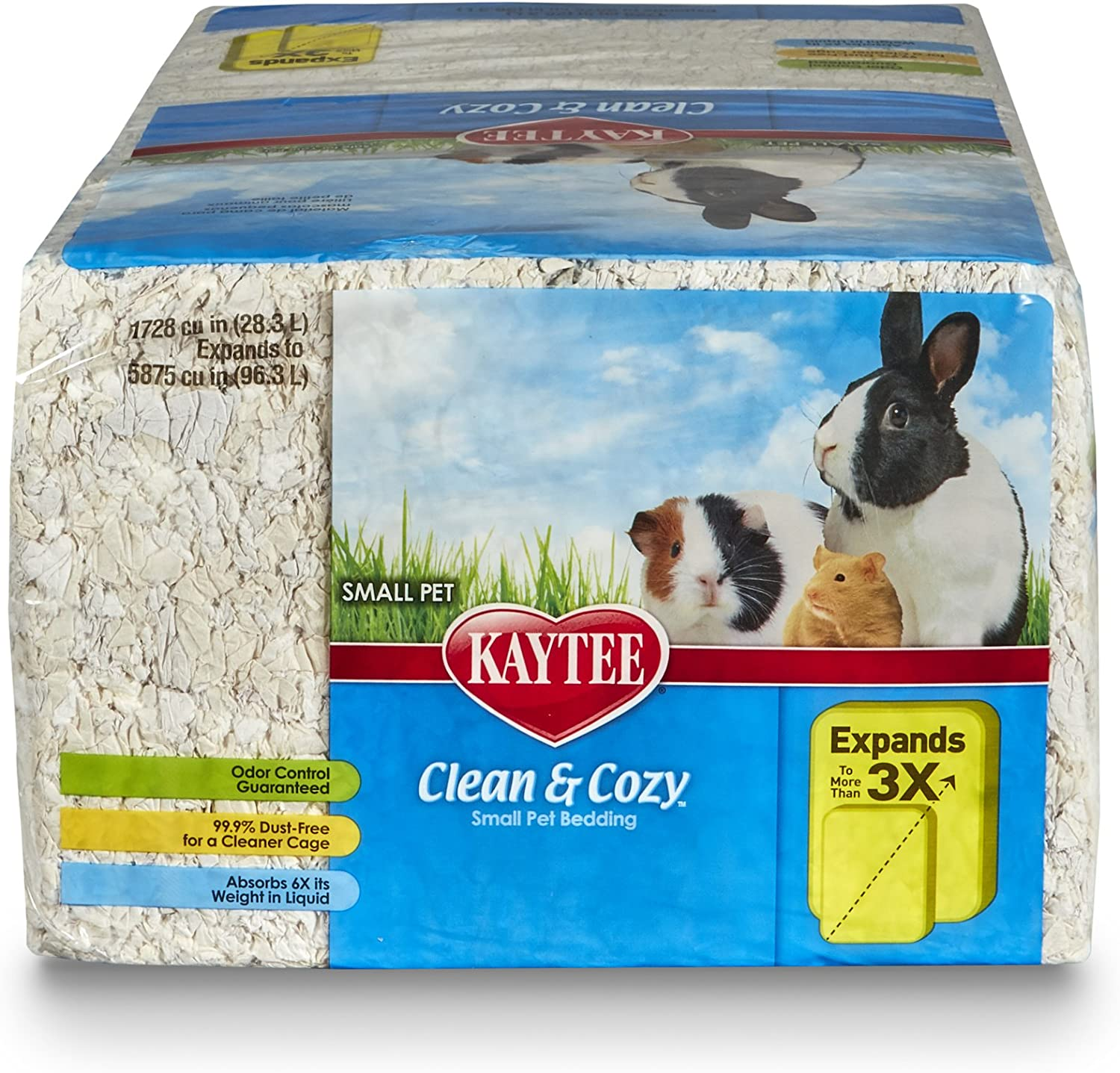 Kaytee Clean /& Cozy Super Absorbent Paper Bedding White Small 12.3  Litre