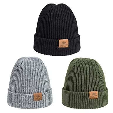 a4c01160a9d PAGE ONE Boys Girls Winter Daily Beanie Slouchy Beanie Windproof Warm Knit  Snow Skull Cap 3