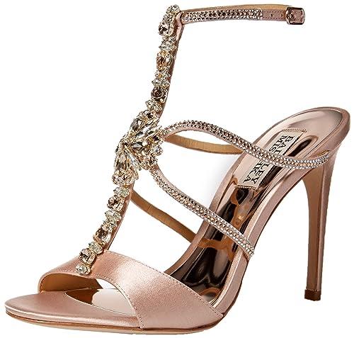 running shoes best deals on hot product Badgley Mischka Women's Faye Heeled Sandal, Soft Blush, 10 M US
