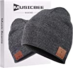 Bluetooth Beanie, MUSICBEE Bluetooth V5.0 Wireless Knit Winter Hats Cap with