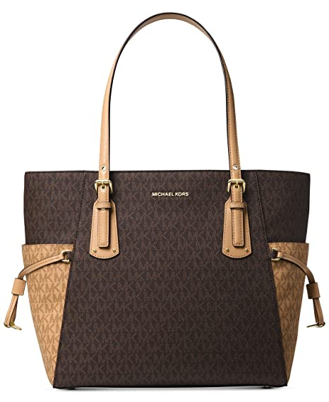 1a31ebe1a4c9 Image Unavailable. Image not available for. Color: Michael Kors Women's Jet  Set Travel Small Logo Tote ...