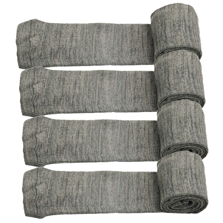 GUGULUZA Silicone Treated Knit Gun Socks 52'' for Rifles 4 -Pack(Gray) by GUGULUZA