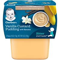 Gerber 2nd Foods Vanilla Custard Pudding With Bananas Pureed Baby Food, 4 Ounce...