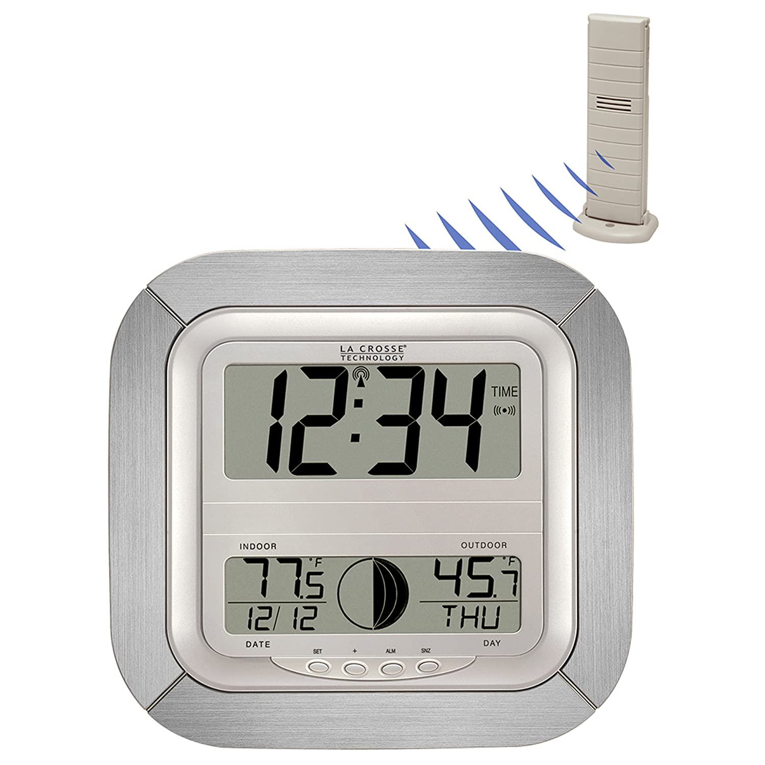 Amazon la crosse technology ws 8418al it atomic digital wall amazon la crosse technology ws 8418al it atomic digital wall clock with moon phase home kitchen amipublicfo Images