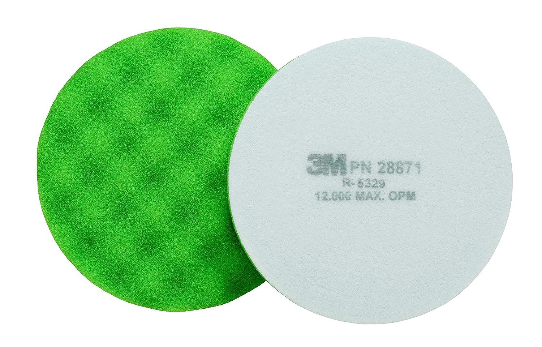 3M Finesse-it Buffing Pad 28869 Green Foam 3-1//4 in