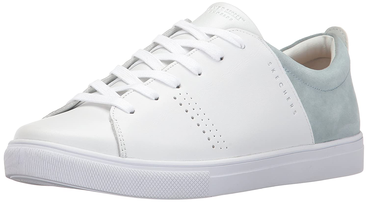 White  Grey Skechers Women's Moda - Clean Street shoes
