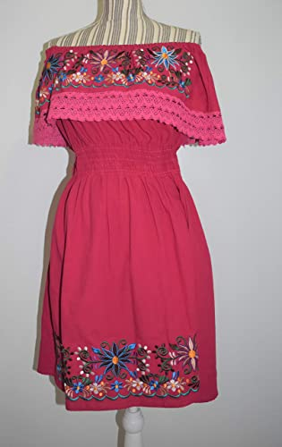 Vestido Bordado Artesanal Mexicano Oaxaca Vestido