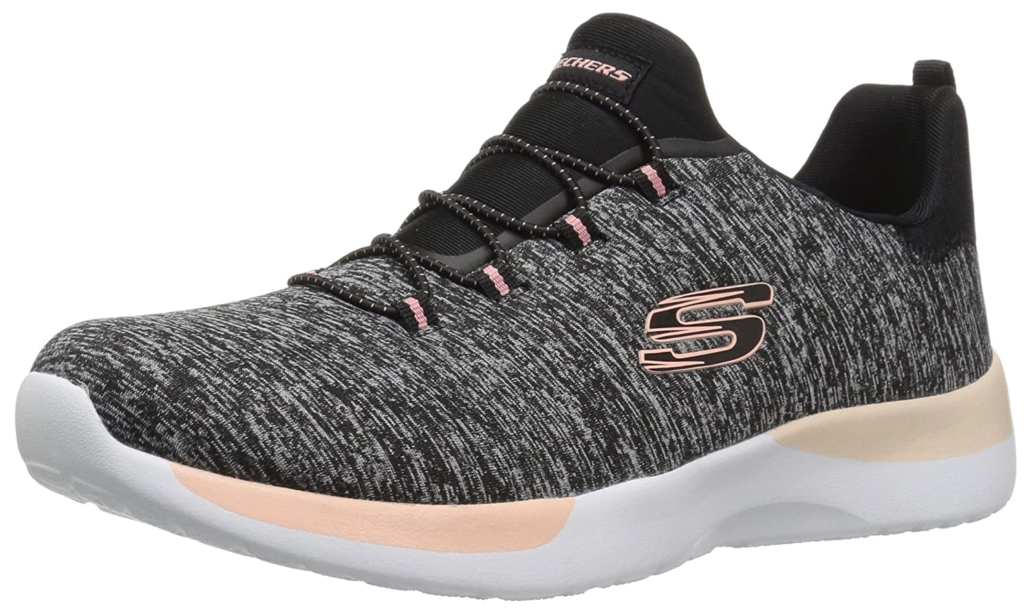 Skechers 12991/GYLP Dynamight-Break-Through Damen Sneaker Slipper Grau/Rosa  40 EU|Schwarz (Black/Coral)