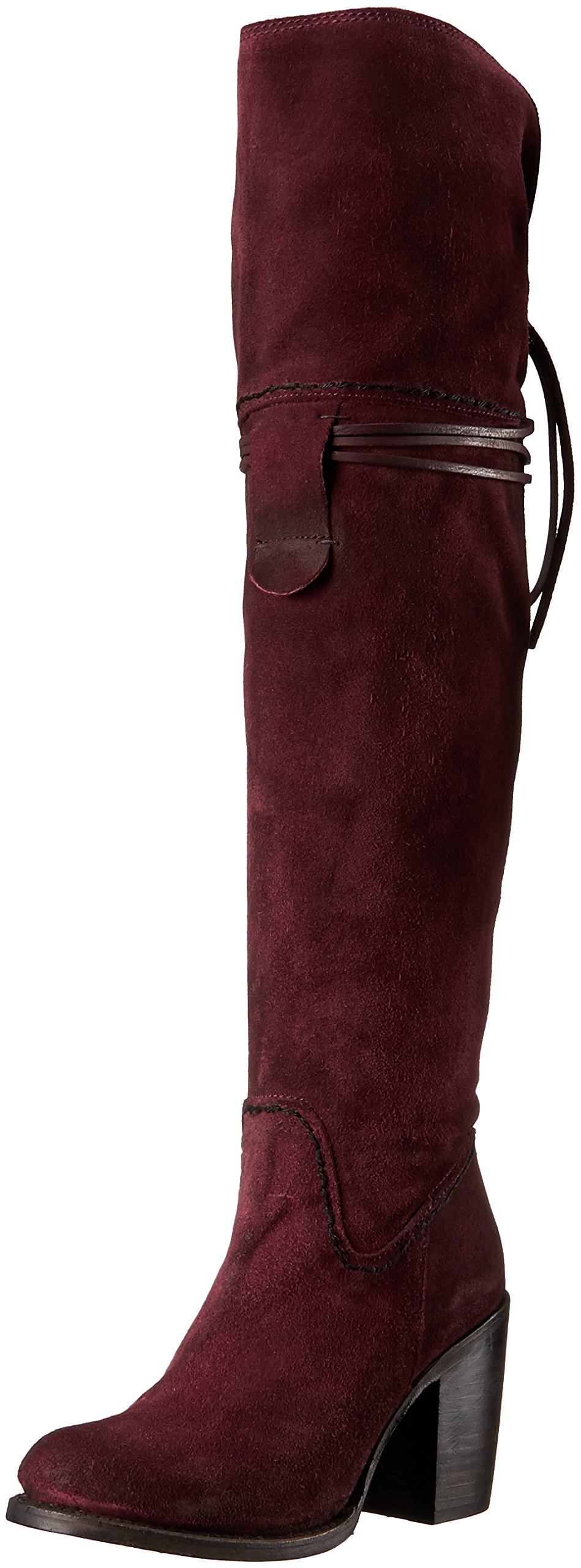 Freebird Women's Brock Riding Boot, Wine Suede, 6 M US by Freebird