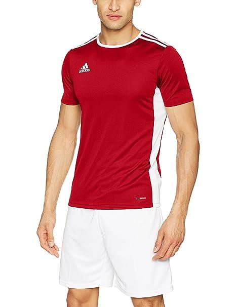 Adidas Entrada 18 Soccer Jersey Black/white Men's Clothing Activewear