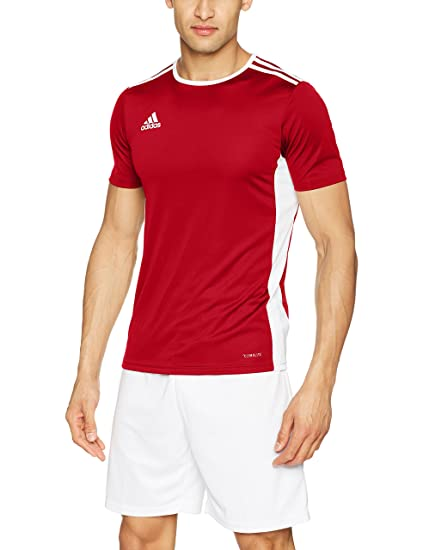 900c22203 adidas Men's Soccer Entrada 18 Jersey, Power Red/White, X-Small