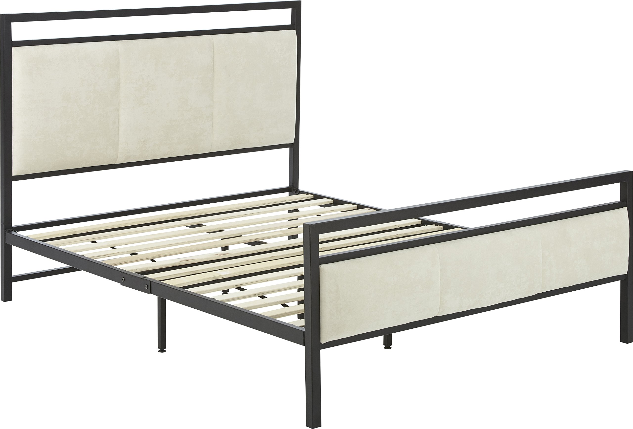 Flex Form Rosetta Metal Platform Bed Frame / Mattress Foundation with Headboard and Footboard, Full