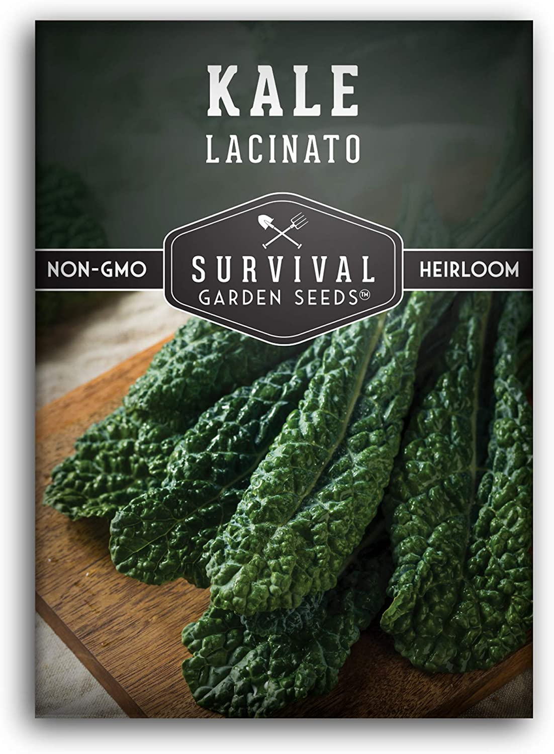 Survival Garden Seeds - Lacinato Kale Seed for Planting - Packet with Instructions to Plant and Grow Your Home Vegetable Garden - Non-GMO Heirloom Variety