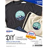 Avery 3279 Printable Heat Fabric Transfer Paper for DIY Projects on Dark Fabrics -- Make Custom Bandanas, Pack of 5