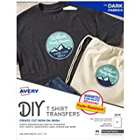 Avery 3279 Printable Heat Fabric Transfer Paper for DIY Projects on Dark Fabrics...