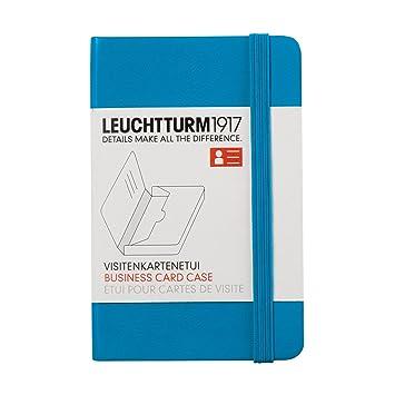 Leuchtturm1917 350143 Etui Pour Cartes De Visite Bleu Azur