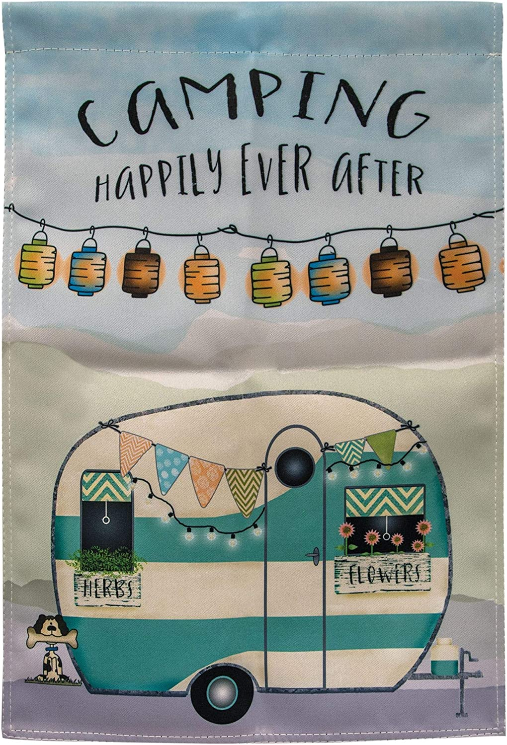 CWI Gifts Blue Camper Garden Flag, 12 x 18 Inches, Multi
