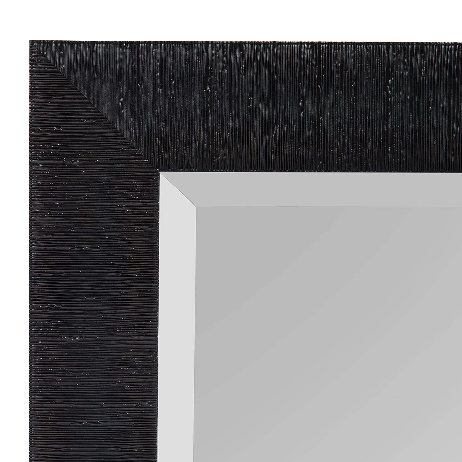 Kate and Laurel Reyna Framed Wall Mirror, 29.75×41.75, Black
