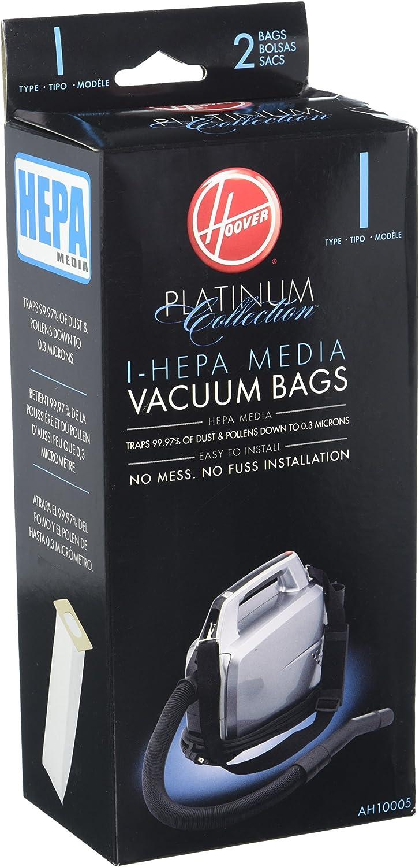 Hoover Type I HEPA Bag (2-Pack), AH10005 by Hoover: Amazon.es: Hogar