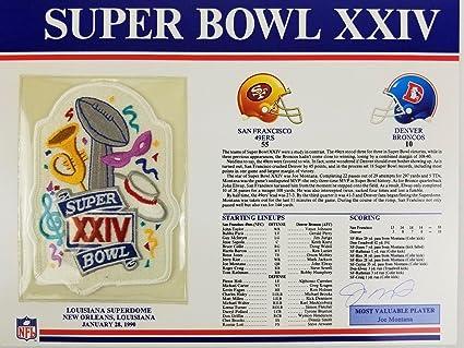 9d0a4c7cc Joe Montana 49ers Signed Super Bowl XXIV (24) Willabee   Ward Patch Card LOA