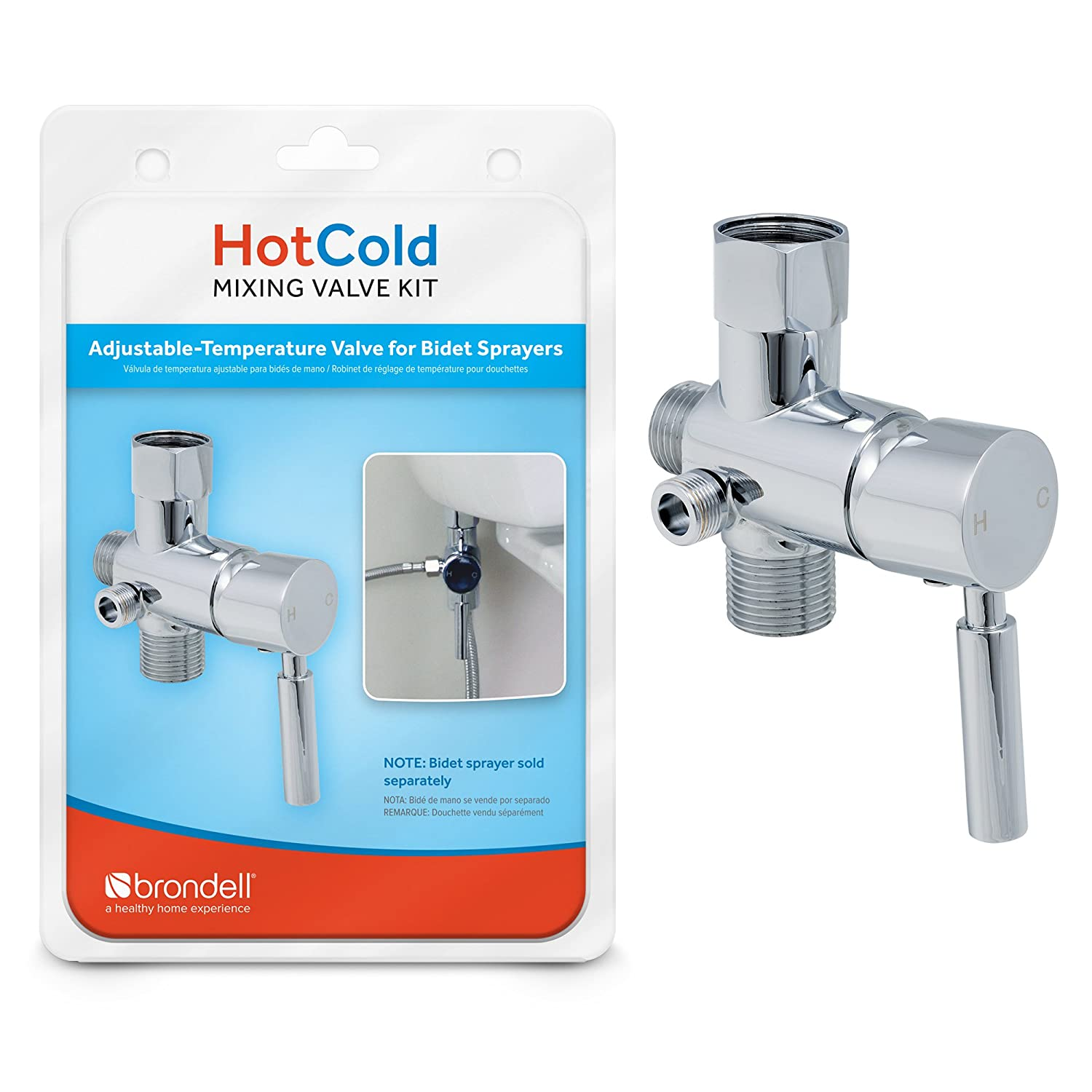 Brondell MVK10 Home Bathroom HOT/COLD Mixing Valve Kit For CS And CSL MVK-10